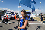 Stewardess during the fist race R1 of the XXX Spain GP Camion of the FIA European Truck Racing Championship 2016 in Madrid. October 01, 2016. (ALTERPHOTOS/Rodrigo Jimenez)