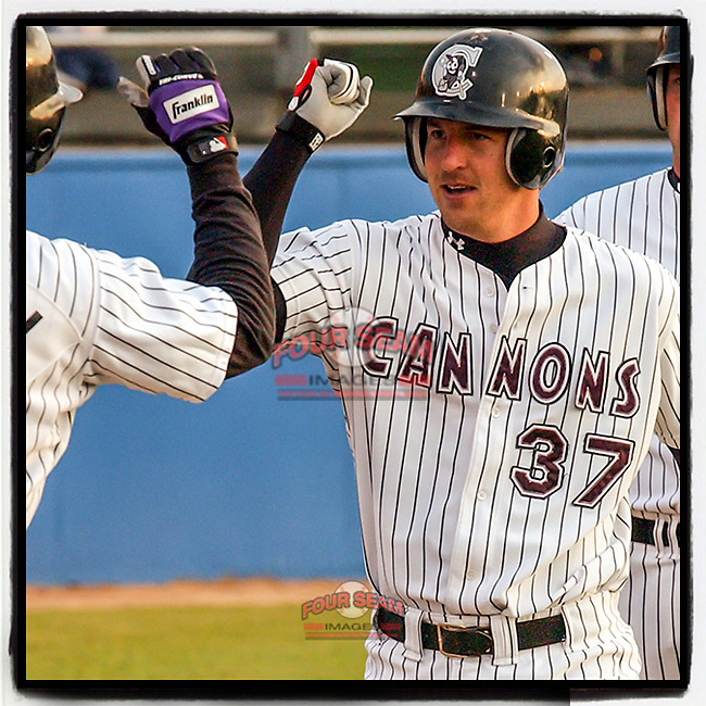 #OTD On This Day, May 4, 2003, Heath Honeycutt of the Potomac Cannons scored a run in a game at Pfitzner Stadium in Woodbridge, Va. After six seasons in the minors, Honeycutt is now owner, Director of Recruiting, coach and instructor at Ninth Inning Baseball in Atlanta. (Tom Priddy/Four Seam Images) #MiLB #OnThisDay #MissingBaseball #nobaseball #stayathome #minorleagues #minorleaguebaseball #Baseball #AloneTogether