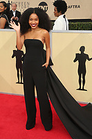 LOS ANGELES, CA - JANUARY 21: Yara Shahidi at The 24th Annual Screen Actors Guild Awards held at The Shrine Auditorium in Los Angeles, California on January 21, 2018. Credit: FSRetna/MediaPunch