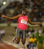 Brittney Reece won the long jump with a mark of 6.61m at the Jamaica International Invitational Meet held in Kingston, Jamaica on May 2nd. 2009. Photo by Errol Anderson, The Sporting Image.net