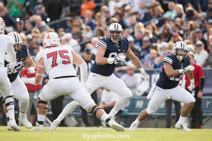 16FTB vs SUU 3008<br /> <br /> 16FTB vs SUU<br /> <br /> BYU Football vs Southern Utah University<br /> <br /> BYU-37<br /> SUU-7 <br /> <br /> Photo by Jaren Wilkey/BYU<br /> <br /> &copy; BYU PHOTO 2016<br /> All Rights Reserved<br /> photo@byu.edu  (801)422-7322