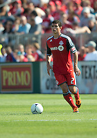 July 28, 2012: Toronto FC defender Logan Emory #2 in action during a game between Toronto FC and the Houston Dynamo at BMO Field in Toronto, Ontario Canada..The Houston Dynamo won 2-0.