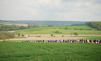 fans waiting for the riders up the Gulperberg<br /> <br /> Amstel Gold Race 2014