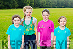 Clodagh Collins, Grace Cahill, Ella Murphy, Hazel Murphy, An Riocht at the Kerry Cross Country championship in Killarney on Sunday