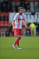 John Goddard of Stevenage during Stevenage vs Cambridge United, Sky Bet EFL League 2 Football at the Lamex Stadium on 14th April 2018