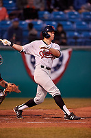 Visalia Rawhide center fielder Jake McCarthy (31) during a California League game against the San Jose Giants on April 12, 2019 at San Jose Municipal Stadium in San Jose, California. Visalia defeated San Jose 6-2. (Zachary Lucy/Four Seam Images)