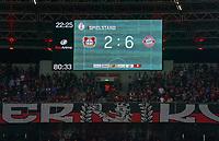 Anzeigetafel, Screen, Screenboard, digital, LED<br /> BAYER 04 LEVERKUSEN - FC BAYERN MUENCHEN 2-6<br /> Football DFB-Pokal semi final , Leverkusen17.04.2018 ,  2017/2018, FCB, Muenchen<br />   <br />  *** Local Caption *** © pixathlon