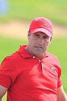 Jose Maria Olazabal (ESP) on the range during Tuesday's Pro-Am Day of the 2014 BMW Masters held at Lake Malaren, Shanghai, China 28th October 2014.<br /> Picture: Eoin Clarke www.golffile.ie