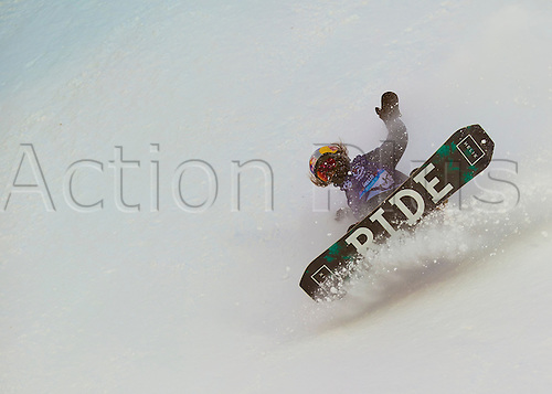 26.02.2016. Wyller Oslo Winter Park, Oslo, Norway. Red Bull X Games. Mens Snowboard Big Air  Round 1.Yuki Kadono of Japan<br />