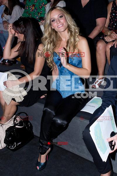 02.09.2012. Celebrities attending the Ion Fiz and Maya Hasen fashion shows during the Mercedes-Benz Fashion Week Madrid Spring/Summer 2013 at Ifema. In the image Edurne  (Alterphotos/Marta Gonzalez) /NortePhoto.com<br /> <br /> **CREDITO*OBLIGATORIO** <br /> *No*Venta*A*Terceros*<br /> *No*Sale*So*third*<br /> *** No*Se*Permite*Hacer*Archivo**<br /> *No*Sale*So*third*