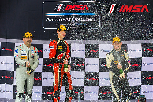IMSA Prototype Challenge Presented by Mazda<br /> Sahlen's Six Hours of the Glen<br /> Watkins Glen International, Watkins Glen, NY USA<br /> Saturday 1 July 2017<br /> IMSA Mazda Prototype Challenge Race 2, MPC Podium<br /> World Copyright: Jake Galstad/LAT Images