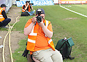 Photographer Matt Ranson during the Blue Square Premier match between Stevenage Borough and York City at the Lamex Stadium, Broadhall Way, Stevenage on Saturday 24th April, 2010..© Kevin Coleman 2010 ..