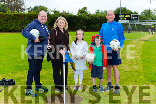 Morgan and Mary Landy, Aoife, fionan and Harry O'Donovan enjoying a game of footgolf at the Glenflesk GAA anniversary celebrations on Sunday