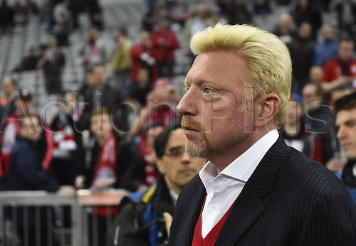 05.04.2016. Munich, Germany.   Boris Becker attends the game between Bayern Munchen FCB and Benfica Lisbon. UEFA Champions League quarterfinal in the Allianz Arena