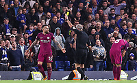 Referee Atkinson shows a yellow card to Nicolas Otamendi of Manchester City <br /> Calcio Chelsea - Manchester City Premier League <br /> Foto Phcimages/Panoramic/insidefoto