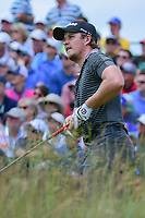 Eddie Pepperell (ENG) watches his tee shot on 1 during Sunday's round 4 of the 117th U.S. Open, at Erin Hills, Erin, Wisconsin. 6/18/2017.<br /> Picture: Golffile | Ken Murray<br /> <br /> <br /> All photo usage must carry mandatory copyright credit (&copy; Golffile | Ken Murray)