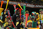 16 JUN 2010: South Africa fans with vuvuzelas. The South Africa National Team lost 0-3 to the Uruguay National Team at Loftus Versfeld Stadium in Tshwane/Pretoria, South Africa in a 2010 FIFA World Cup Group A match.