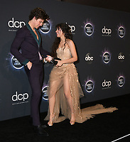24 November 2019 - Los Angeles, California - Shawn Mendes, Camila Cabello. 2019 American Music Awards - Press Room held at Microsoft Theater. Photo Credit: Birdie Thompson/AdMedia