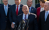 Representative Kevin Brady (Republican of Texas) speaks to the media after meeting with United States President Donald J. Trump  at the White House in Washington, DC, March 26, 2019. Credit: Chris Kleponis / CNP