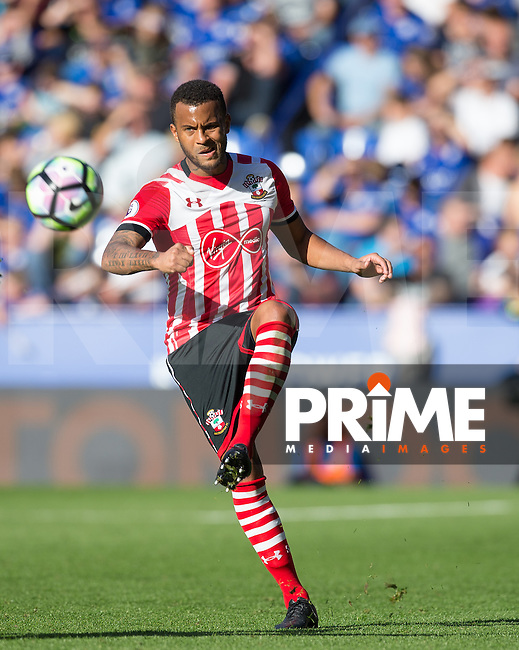 Ryan Bertrand of Southampton in action during the Premier League match between Leicester City and Southampton at the King Power Stadium, Leicester, England on 2 October 2016. Photo by Andy Rowland.