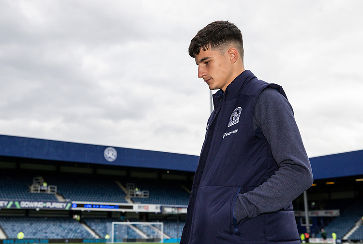 Blackburn Rovers' John Buckley pictured before the match<br /> <br /> Photographer Andrew Kearns/CameraSport<br /> <br /> The EFL Sky Bet Championship - Queens Park Rangers v Blackburn Rovers - Saturday 5th October 2019 - Loftus Road - London<br /> <br /> World Copyright © 2019 CameraSport. All rights reserved. 43 Linden Ave. Countesthorpe. Leicester. England. LE8 5PG - Tel: +44 (0) 116 277 4147 - admin@camerasport.com - www.camerasport.com