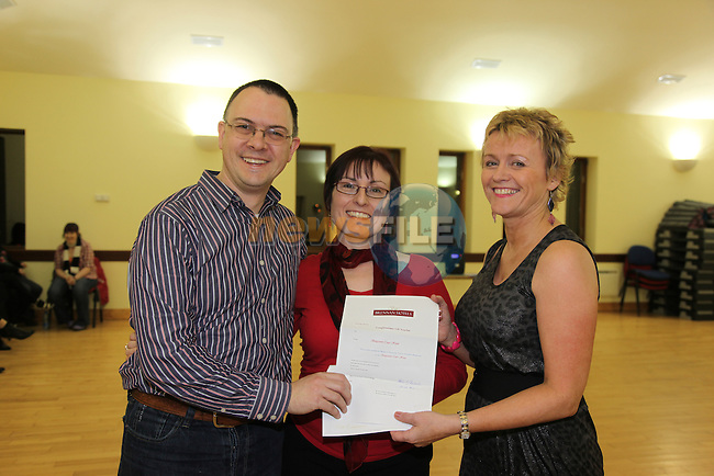 Salsa Dancing Comp winners Brian and Marie Langan and Maura Boyers..Picture Fran Caffrey/Newsfile.ie