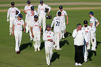 Essex skipper Ryan ten Doeschate leads his victorious team off the pitch during Worcestershire CCC vs Essex CCC, Specsavers County Championship Division 1 Cricket at New Road on 13th May 2018