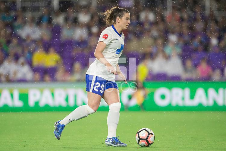 Orlando, FL - Saturday June 03, 2017: Morgan Andrews during a regular season National Women's Soccer League (NWSL) match between the Orlando Pride and the Boston Breakers at Orlando City Stadium.