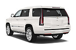 Car pictures of rear three quarter view of 2017 Cadillac Escalade Platinum 5 Door SUV Angular Rear