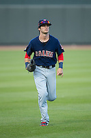 Salem Red Sox right fielder Andrew Benintendi (16) jogs off the field between innings of the game against the Winston-Salem Dash at BB&T Ballpark on April 15, 2016 in Winston-Salem, North Carolina.  The Red Sox defeated the Dash 3-2.  (Brian Westerholt/Four Seam Images)