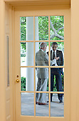 "June 20, 2011.""This photograph was taken from inside the Oval Office looking out onto the White House Colonnade as the President conferred with the Vice President."".Mandatory Credit: Pete Souza - White House via CNP"