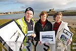 SOS: Ballinskelligs residents Desie Cronin, Barbara Cassidy and Ryna O'Shea who are spearheading a campaign to restore and preserve Ballinskelligs Castle.