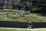 (L-R) Hideki Matsuyama (JPN),  Daisuke Shindo,<br /> June 15, 2013 - Golf :<br /> Hideki Matsuyama of Japan lines up with his caddie on 12th hole during the third round of the U.S. Open Championship at the Merion Golf Club, East course in Haverford Township, Delaware Country, Pennsylvania. (Photo by Koji Aoki/AFLO SPORT) [0008]