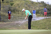 Peter Lawrie (IRL) on the 18th during Round 2 of the KLM Open at Kennemer Golf &amp; Country Club on Friday 12th September 2014.<br /> Picture:  Thos Caffrey / www.golffile