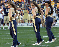 The Pitt dance team peforms during a break. The Pitt Panthers defeated the Gardner-Webb Runnin Bulldogs 55-10 at Heinz Field, Pittsburgh PA on September 22, 2012..
