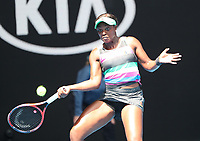 16th January 2019, Melbourne Park, Melbourne, Australia; Australian Open Tennis, day 3; Sloane Stephens of USA in action against Timea Babos of Hungary