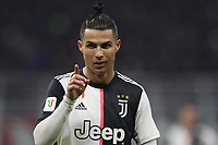 Cristiano Ronaldo of Juventus reacts during the Coppa Italia match at Giuseppe Meazza, Milan. Picture date: 13th February 2020. Picture credit should read: Jonathan Moscrop/Sportimage PUBLICATIONxNOTxINxUK SPI-0487-0009<br /> Ac Milan Vs Juventus Coppa Italia <br /> Photo Jonathan Moscrop/Sportimage/Imago/Insidefoto <br /> ITALY ONLY