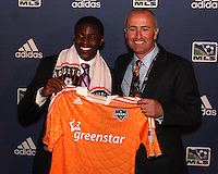Dominic Kinnear and Kofi Sarkodie at the 2011 MLS Superdraft, in Baltimore, Maryland on January 13, 2010.
