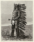Sioux leader     Date: 1831-1890     Source: La Nature 4 April 1891 page 280