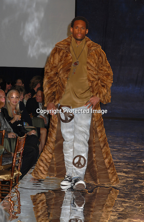 """Lawrence Saint-Victor of Fuiding Light modeling..at The Design Cares """"An Evening of Enchantment""""Fashion ..Event benefitting St Jude Children's Research Hospital ..on February 7, 2007 at The Puck Building in New York. ..Robin Platzer, Twin Images.."""