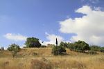 Israel, Jerusalem mountains, Castel National Park, ruins of the Crusader Castellum Belveern fortress