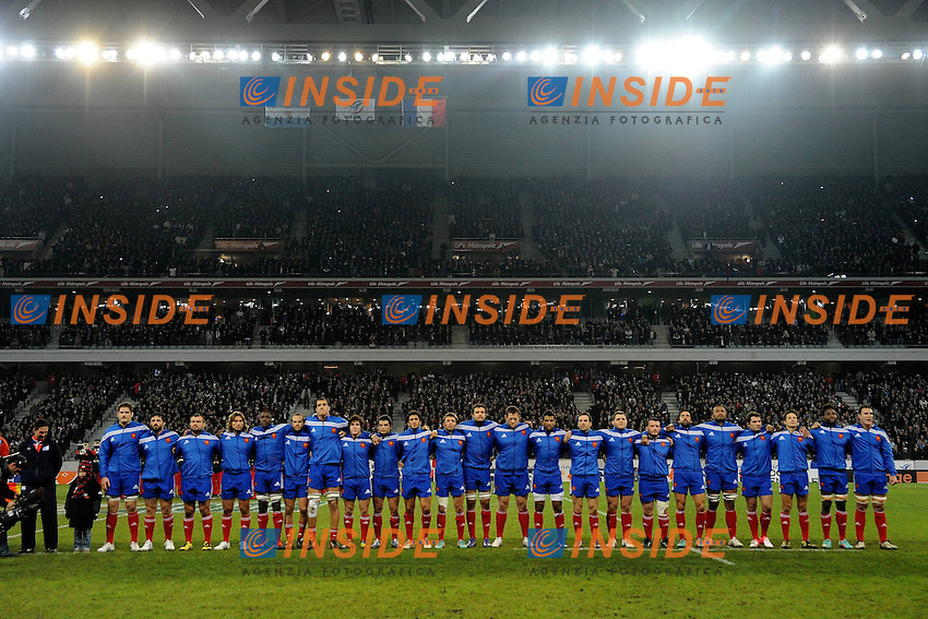 Presentation equipe de France  .17/11/2012.Rugby Test Match.Francia Vs Argentina.Foto Nolwenn Le Gouic  / Panoramic / Insidefoto.ITALY ONLY