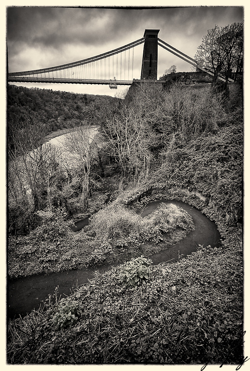 View of Clifton Suspension Bridge, Bristol.