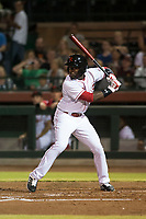 Scottsdale Scorpions left fielder Taylor Trammell (26), of the Cincinnati Reds organization, at bat during an Arizona Fall League game against the Salt River Rafters at Scottsdale Stadium on October 12, 2018 in Scottsdale, Arizona. Scottsdale defeated Salt River 6-2. (Zachary Lucy/Four Seam Images)