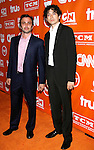 Actors Mike Damus and Geoffrey Arend arrive at the Turner Broadcasting TCA Party at The Oasis Courtyard at The Beverly Hilton Hotel on July 11, 2008 in Beverly Hills, California.