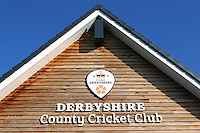 The Derbyshire County Cricket Club sign ahead of Derbyshire CCC vs Essex CCC, Specsavers County Championship Division 2 Cricket at the 3aaa County Cricket Ground on 15th August 2016
