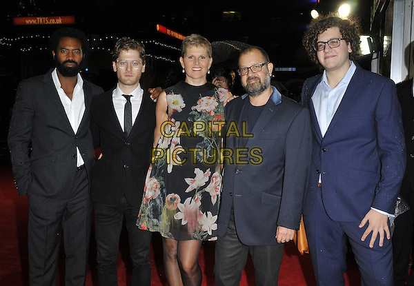 LONDON, ENGLAND - OCTOBER 12: Nicholas Pinnock, Kyle Soller, guest, Daniel Barber &amp; his son attend the &quot;The Keeping Room&quot; Official Competition screening, 58th LFF day 5, Odeon West End cinema, Leicester Square, on Sunday October 12, 2014 in London, England, UK. <br /> CAP/CAN<br /> &copy;Can Nguyen/Capital Pictures