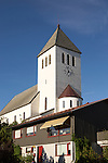 White concrete church at Svolvaer, Lofoten Islands, Nordland, Norway built in 1934