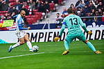 Jan Oblak of Atletico de Madrid and Martin Braithwaite of CD Leganes during La Liga match between Atletico de Madrid and CD Leganes at Wanda Metropolitano Stadium in Madrid, Spain. January 26, 2020. (ALTERPHOTOS/A. Perez Meca)