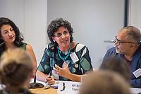Pressekonferenz der Menschenrechtsorganisation &quot;Terre des Femmes&quot; am Donnerstag den 23. August 2018 in Berlin, anlaesslich ihrer Petition &quot;Den Kopf frei haben!&quot;, die sich fuer ein Verbot des sogenannten &quot;Kinderkopftuch&quot; fuer Maedchen unter 18 Jahren einsetzt. Fuer Terre des Femmes ist das Kinderkopftuch der Missbrauch von Kindern fuer eine Religion und eine Kinderrechtsverletzung.<br /> Ziel der Unterschriftensammlung fuer die Petition sind 100.000 Unterschriften.<br /> Im Bild: <br /> 23.8.2018, Berlin<br /> Copyright: Christian-Ditsch.de<br /> [Inhaltsveraendernde Manipulation des Fotos nur nach ausdruecklicher Genehmigung des Fotografen. Vereinbarungen ueber Abtretung von Persoenlichkeitsrechten/Model Release der abgebildeten Person/Personen liegen nicht vor. NO MODEL RELEASE! Nur fuer Redaktionelle Zwecke. Don't publish without copyright Christian-Ditsch.de, Veroeffentlichung nur mit Fotografennennung, sowie gegen Honorar, MwSt. und Beleg. Konto: I N G - D i B a, IBAN DE58500105175400192269, BIC INGDDEFFXXX, Kontakt: post@christian-ditsch.de<br /> Bei der Bearbeitung der Dateiinformationen darf die Urheberkennzeichnung in den EXIF- und  IPTC-Daten nicht entfernt werden, diese sind in digitalen Medien nach &sect;95c UrhG rechtlich geschuetzt. Der Urhebervermerk wird gemaess &sect;13 UrhG verlangt.]
